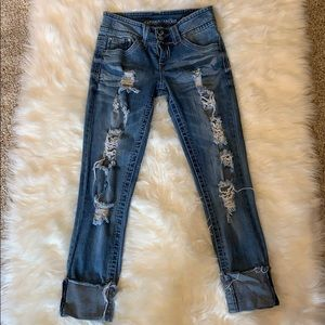 Almost Famous Distressed Jeans Size 3